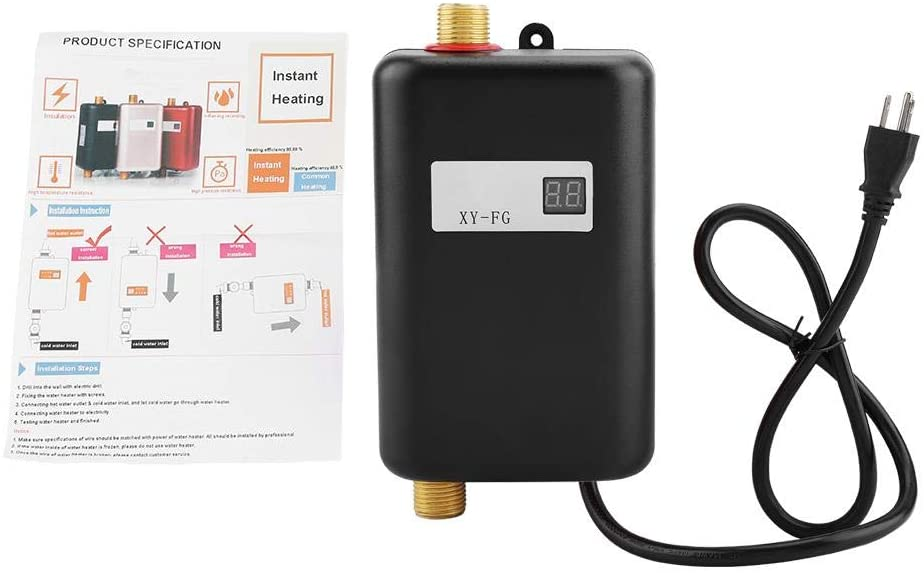 maxmartt 110V 3000W Mini Electric Hot Water Heater